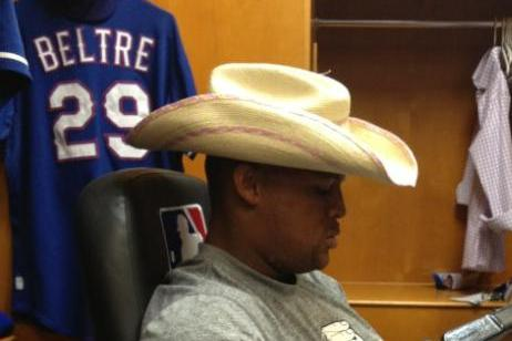 Adrian Beltre Goes Cowboy During Texas Rangers Rain Delay in Detroit