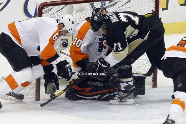 NHL Playoffs 2012: Watch Evgeni Malkin Hit Crosby Hard, Target Couturier's Head