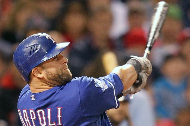 Mike Napoli Homers Again as Rangers Win Eighth Straight Game