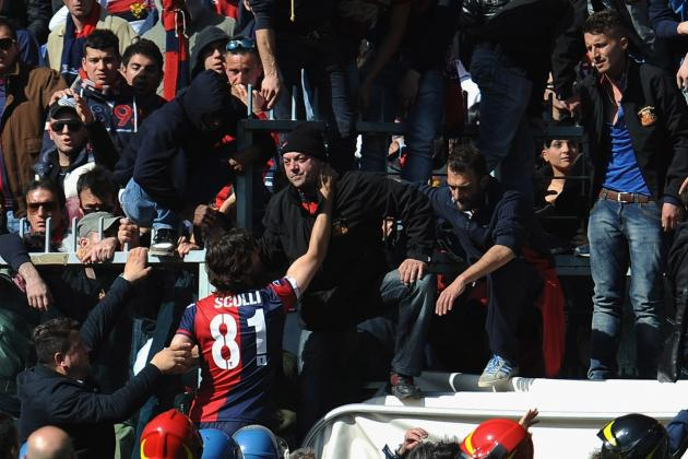VIDEO: Watch Amazing Scenes as Genoa Ultras Demand Players Remove Their Shirts
