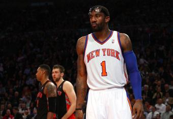 Amar'e Stoudemire will likely have to sit until the second half after picking up his third foul.