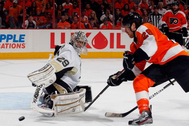 NHL Playoffs 2012: Sidney Crosby, Evgeni Malkin Trade Sticks for Clubs