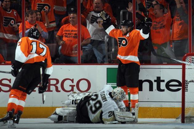 Claude Giroux Dominated Sidney Crosby and Evgeni Malkin in First Round Series