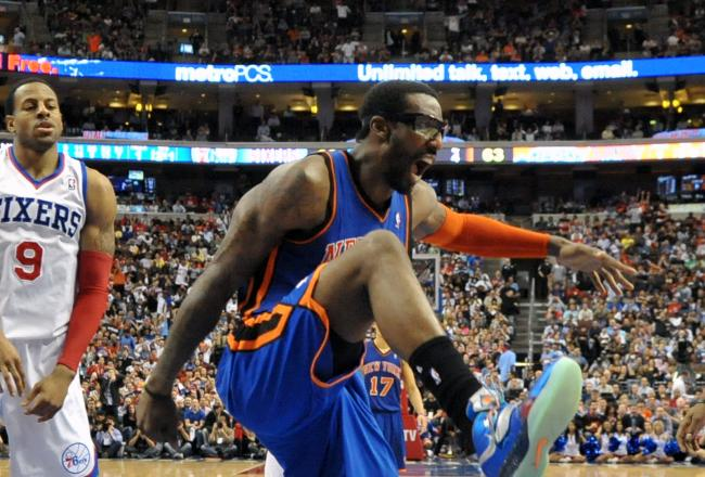 Amar'e Stoudemire's double-double may give Knicks' fans something to celebrate.