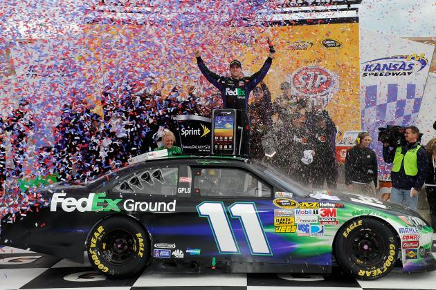 STP 400: Denny Hamlin Steals Win from Martin Truex Jr. at Kansas