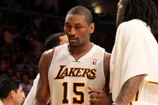 Lakers' Metta World Peace Faces Possible Suspension for Elbow on Harden