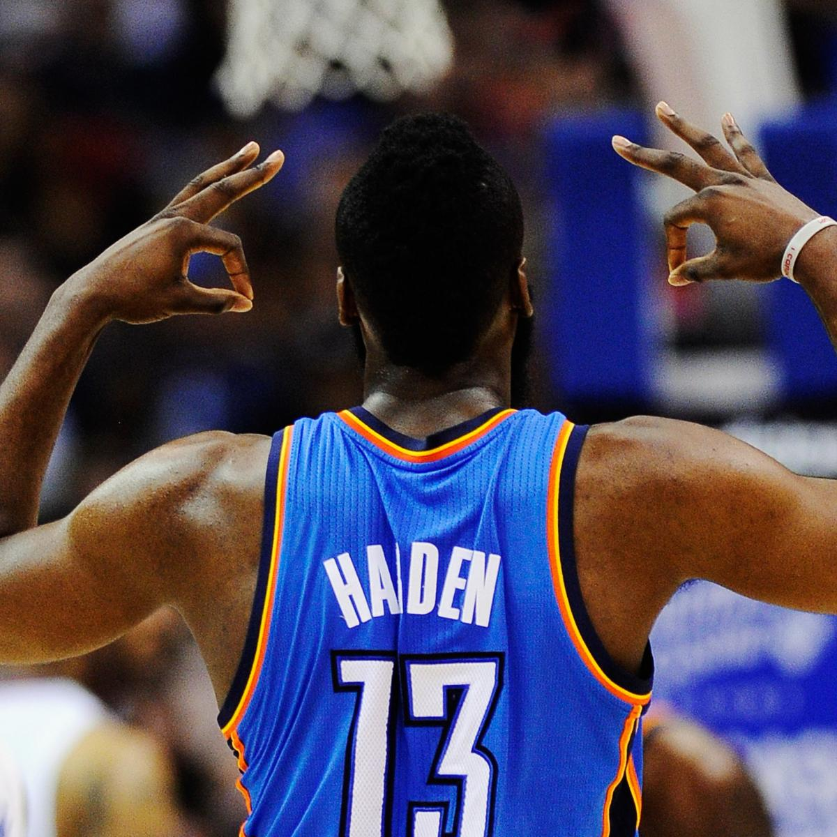 James Harden Free Agency: NBA Rumors: OKC Thunder Must Give James Harden Max Deal