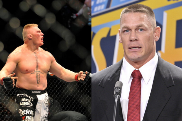 John Cena, Lesnar Sign Contract on WWE Monday Night Raw Brock Lesnar