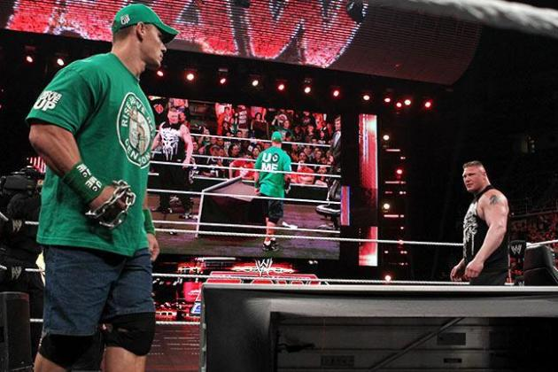 WWE Raw 4/24: John Cena Being Afraid of Brock Lesnar Questions Our Intelligence