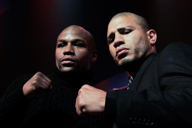 Mayweather Can't Resist Talking About Pacquiao While Promoting Cotto Fight