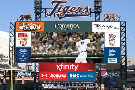 Detroit Tigers: Did the Tigers Copy the Scoreboard of the Indians' Ballpark?