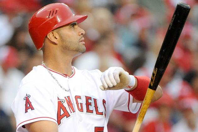 Albert Pujols Home Run Drought Spreads to Cleveland This Weekend
