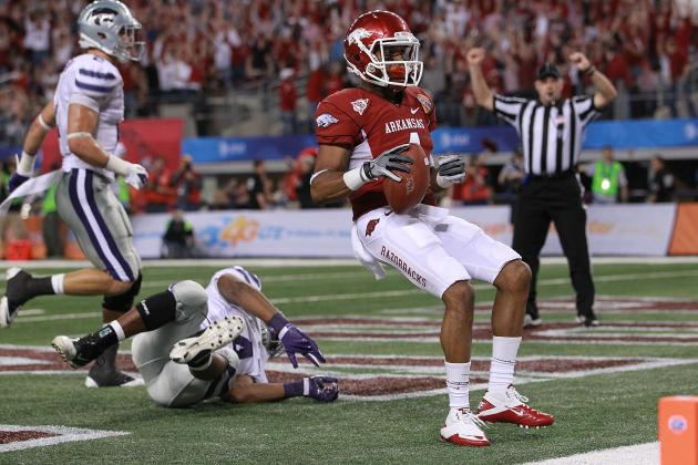 Minnesota Vikings Take Arkansas Wide Receiver Jarius Wright with 118th Pick