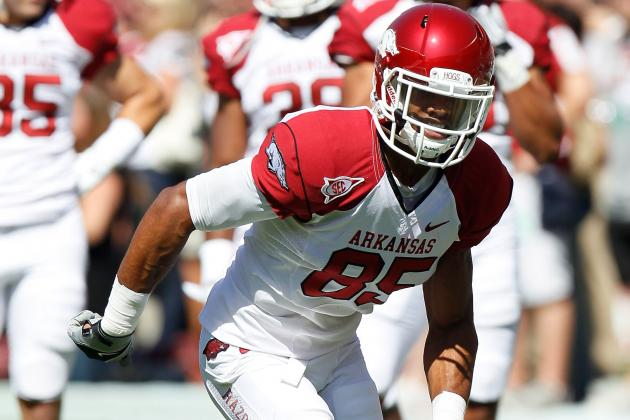 NFL Draft 2012: Vikings Draft Arkansas WR Greg Childs to Pair with Jarius Wright