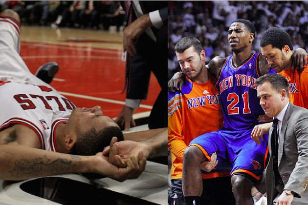 NBA Playoffs 2012: Who's to Blame for Derrick Rose,  Iman Shumpert's Torn ACLs?