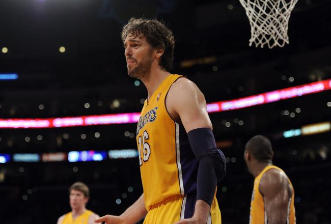Pau Gasol had two points, four rebounds and five assists in the first half.