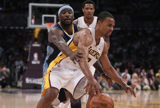Ty Lawson has struggled to keep up with the Lakers today.