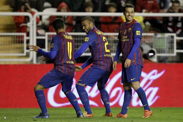Barcelona vs Rayo: Dani Alves and Thiago Show Both Class and Lack of It