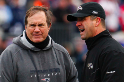 John Harbaugh Says Bill Belichick and New England Patriots' Titles Are 'Stained'