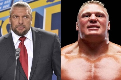 WWE: Reports Are Brock Lesnar Will Face Triple H at SummerSlam, Who Will Win?