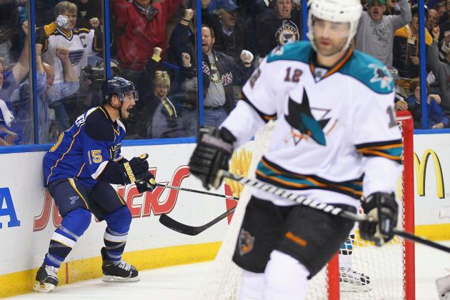 Blues' Perron Talks Sharks' Penalty Kill