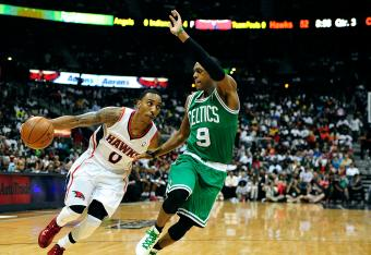 Jeff Teague has used his speed to his advantage against Boston tonight.