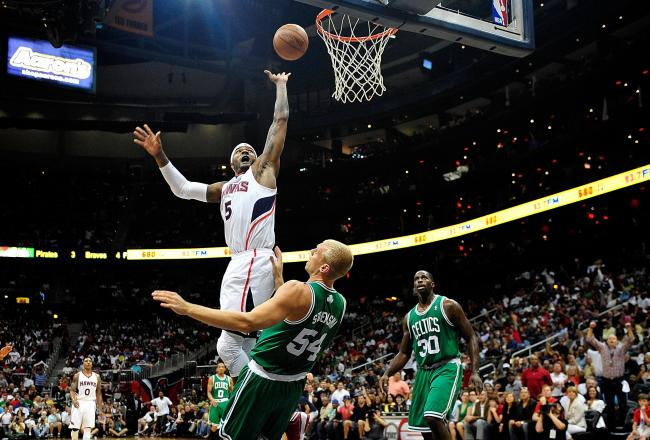 Josh Smith has played above the rim at times tonight.