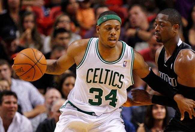 Paul Pierce scored 16 of Boston's 41 first half points.
