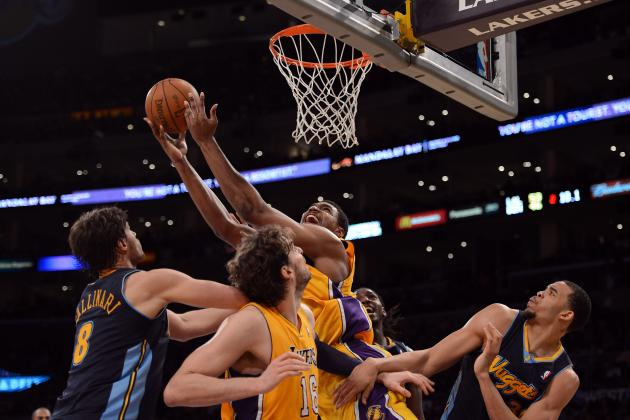 NBA Playoffs 2012: Lakers Big Men Tower over Nuggets as They Pursue NBA Title