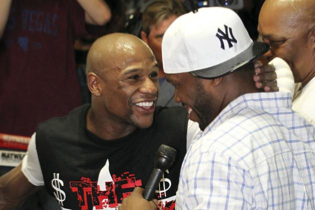 Floyd Mayweather Calls out Manny Pacquiao at Press Confernce Again