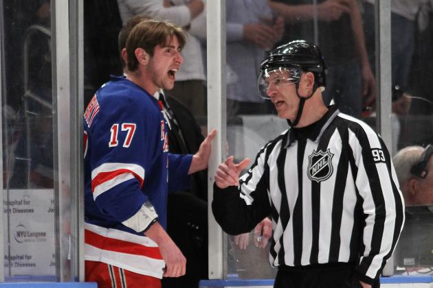 2012 NHL Playoffs: NY Rangers Brandon Dubinsky Likely to Miss Game 3 with Injury