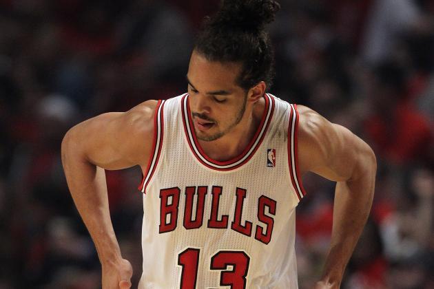 Joakim Noah Makes Thaddeus Young Fall with Fake During Sixer-Bulls Game 2
