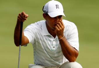 Tiger Woods has not had his best ball striking round at Quail Hollow today