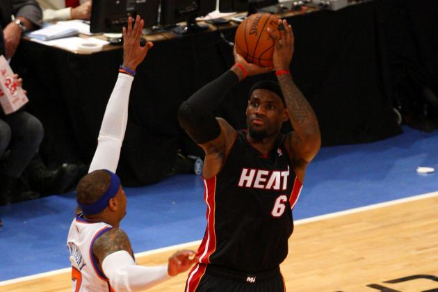 LeBron James Leads Miami Heat to 3-0 Series Lead over New York Knicks