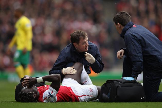 Bacary Sagna Fractures His Leg, Will Miss the European Championships