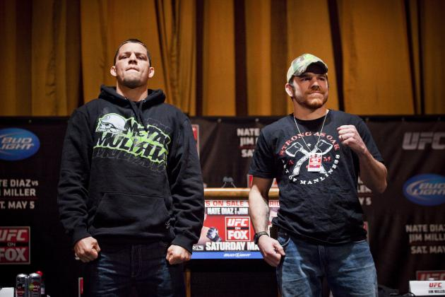UFC on FOX 3: Why Nate Diaz vs. Jim Miller Was Best Bout of the Night