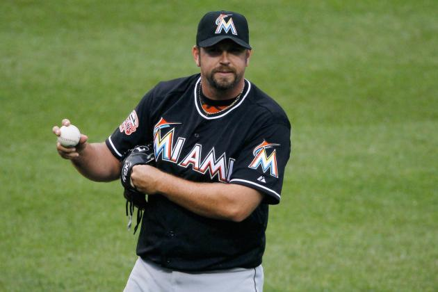 Heath Bell: Right-Hander Pulled from Miami Marlins Closer Role for 'a Few Days'