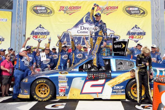 Brad Keselowski Survives Dodge Win at Dega