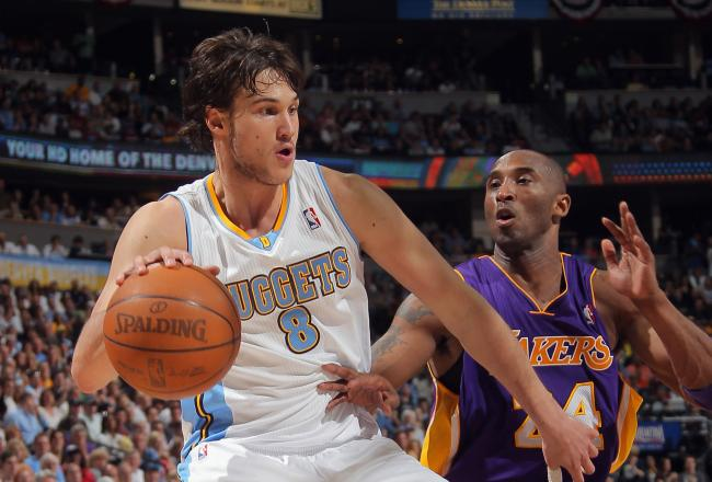 Danilo Gallinari leads Denver with 10 points midway through the second quarter.