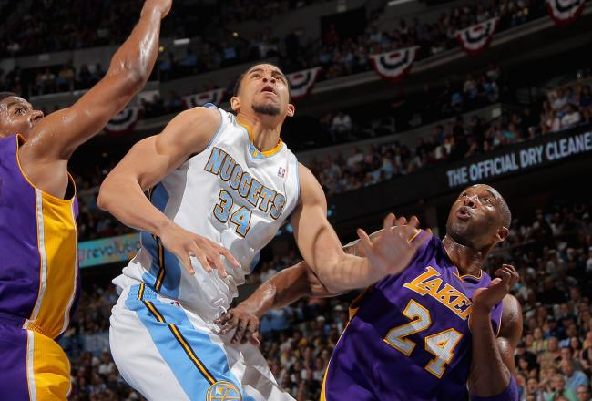JaVale McGee has two blocked shots in the first half.