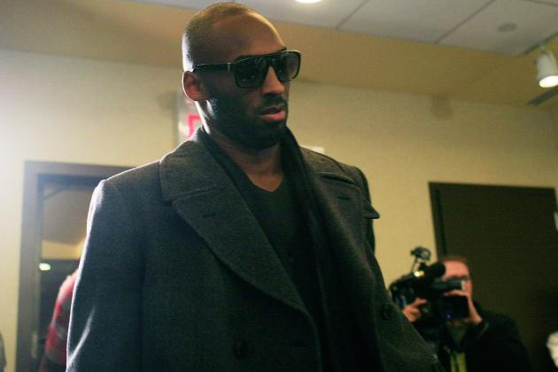 Kobe Bryant Entertains Media During Press Conferences and after Them as Well