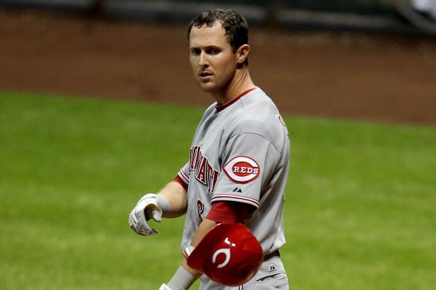 NL Worst of the Night: Drew Stubbs' 0-for-5, 3 Strikeouts Lead Reds' Bad Night