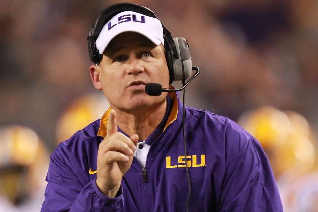 LSU Football: Les Miles Wrong to Support Spurrier's Division Record Proposal