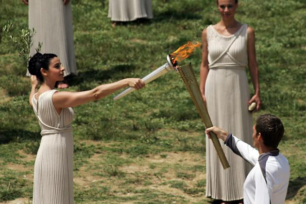 London 2012: Olympic Torch Begins Its Journey to London
