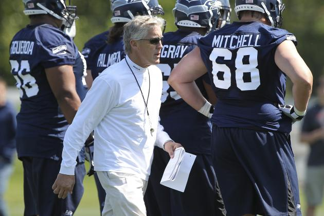 Russell Wilson Impresses Seahawks Coach Pete Carroll at Camp
