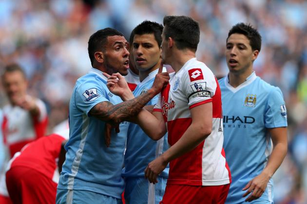 Joey Barton: QPR Captain Cheap Shots Sergio Aguero After Receiving Red Card