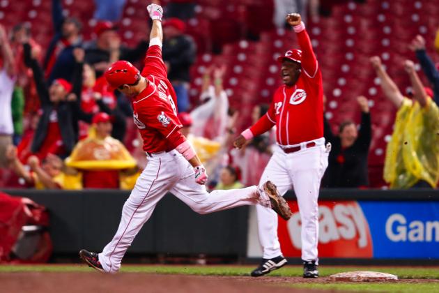Joey Votto: Reds Star Explodes for 3 Home Runs, Including Walk-Off Grand Slam