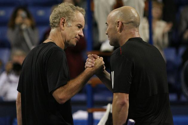Andre Agassi, John McEnroe Agree:  Current Tennis Stars Are Golden