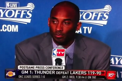 NBA Playoffs 2012: Kobe Bryant with Another Classic Finish to Postgame Presser