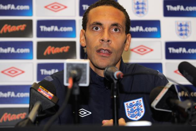 England Euro 2012 Squad Could End Rio Ferdinand's International Career